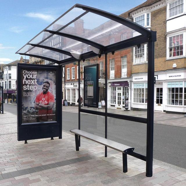 Outdoor Furniture Metal Stainless Steel Bus Stop Shelter For Sale