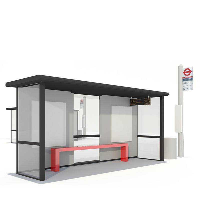 Customized Outdoor Stainless Steel Bus Stop Shelter