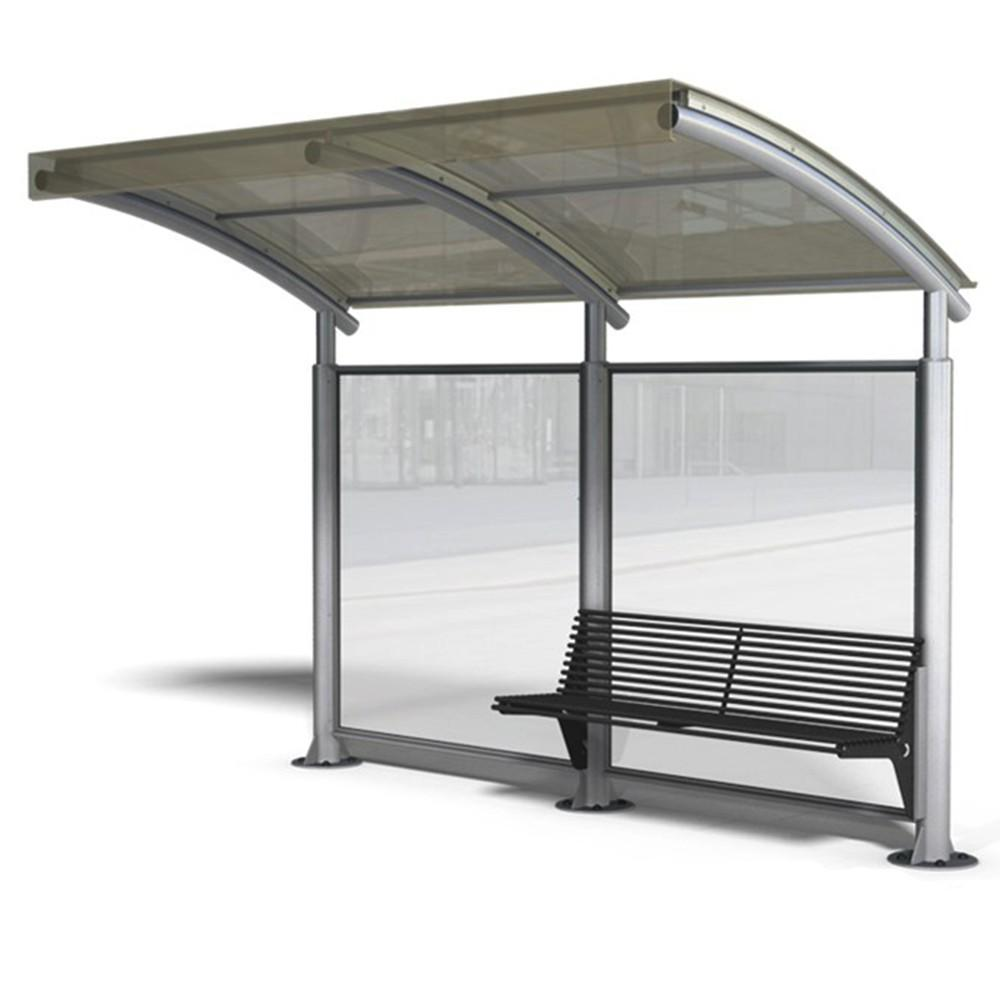 Bus Stop Shelter Glass Equipment Dimension