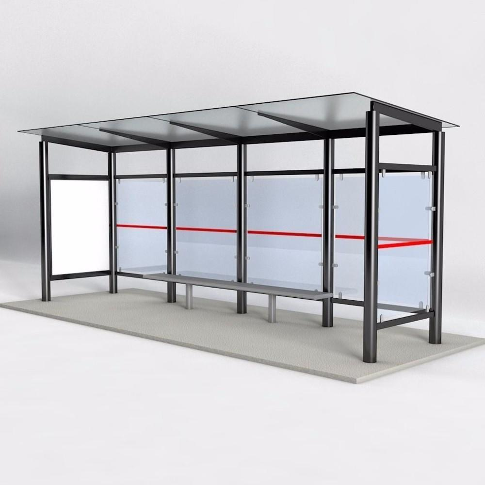 Modern Style Metal Bus Stop Shelters Design