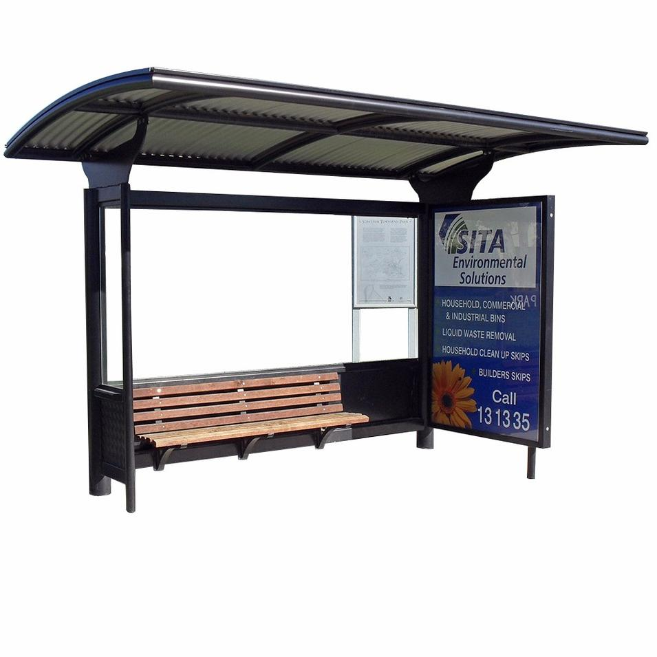 2020 new arrival bus stop station waiting shed with chairs