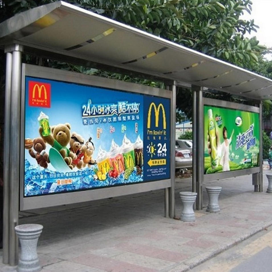 High quality steel stainless bus station bus shelter manufacturers