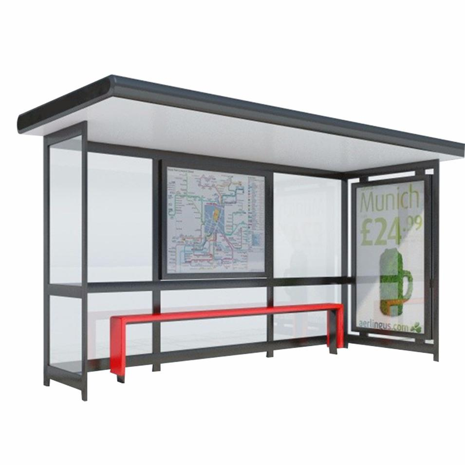 Bus Stop Shelter Stand Design For Advertising