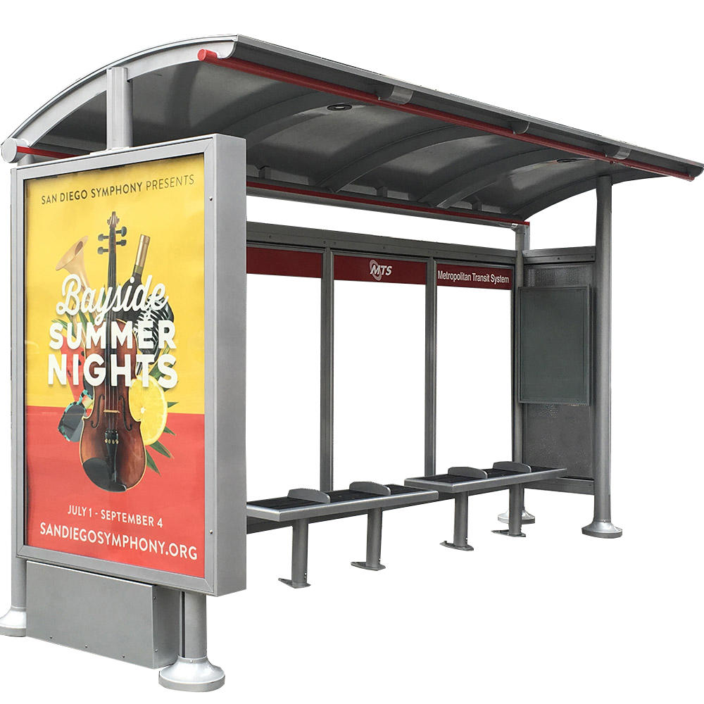 Outdoor School Bus Stop Shelter Display Dimensions