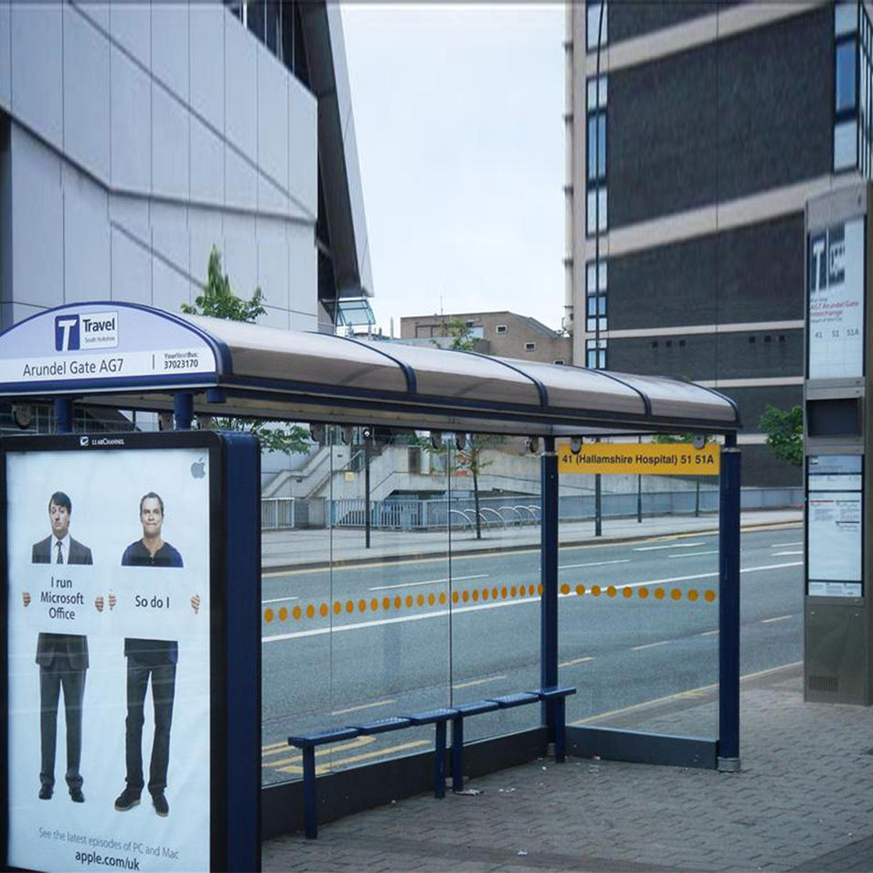 Nice design advertising matel light box bus station