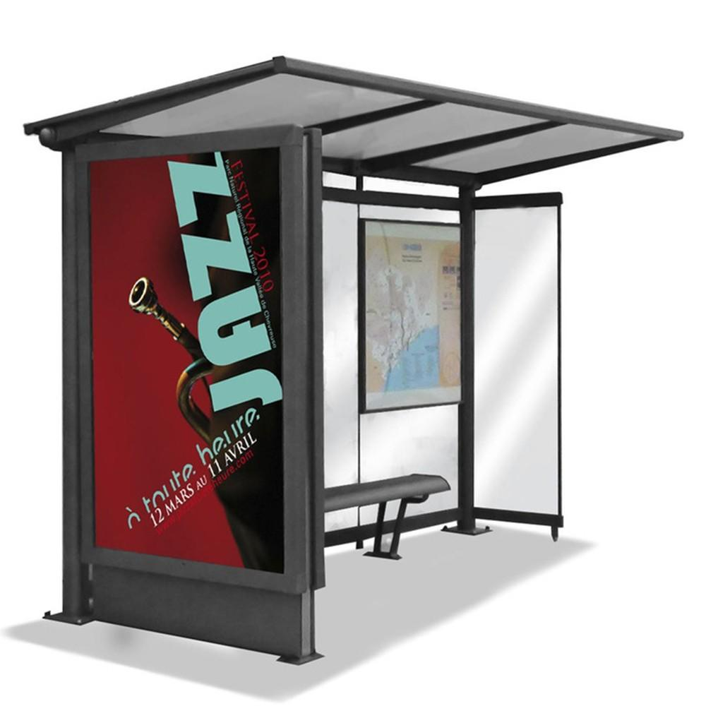 Modern Design Passenger Waiting Outdoor Bus Station Shelter