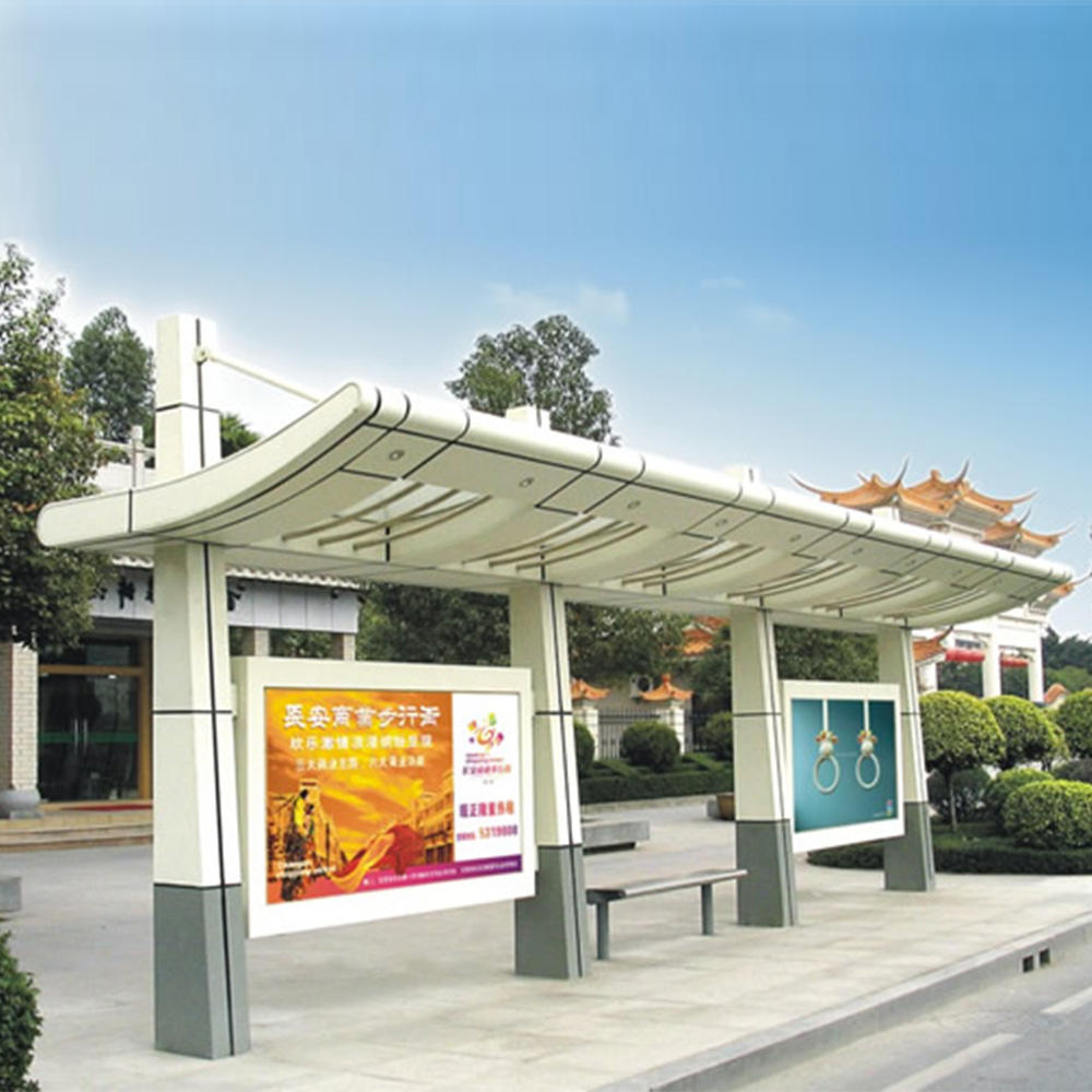 Outdoor furniture bus stop station for city construction