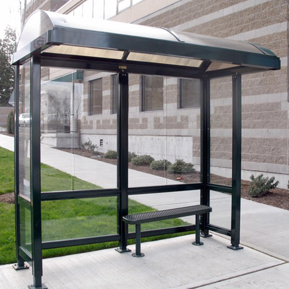 Outdoor furniture metal structure bus stop shelter prices