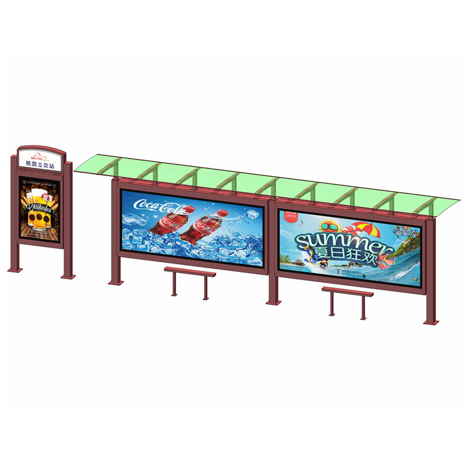 Factory manufacture metal structure bus stop shelter
