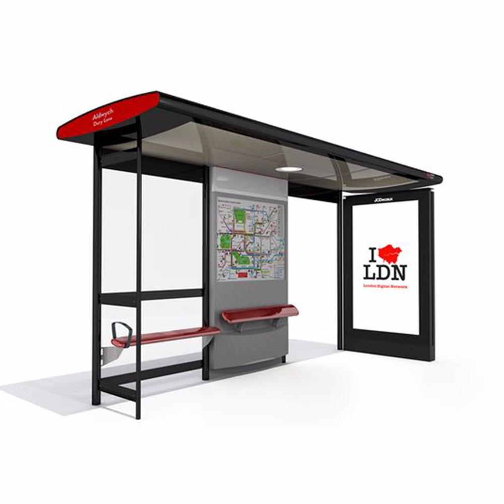 Customizable Outdoor Advertising Bus Shelter For Sale