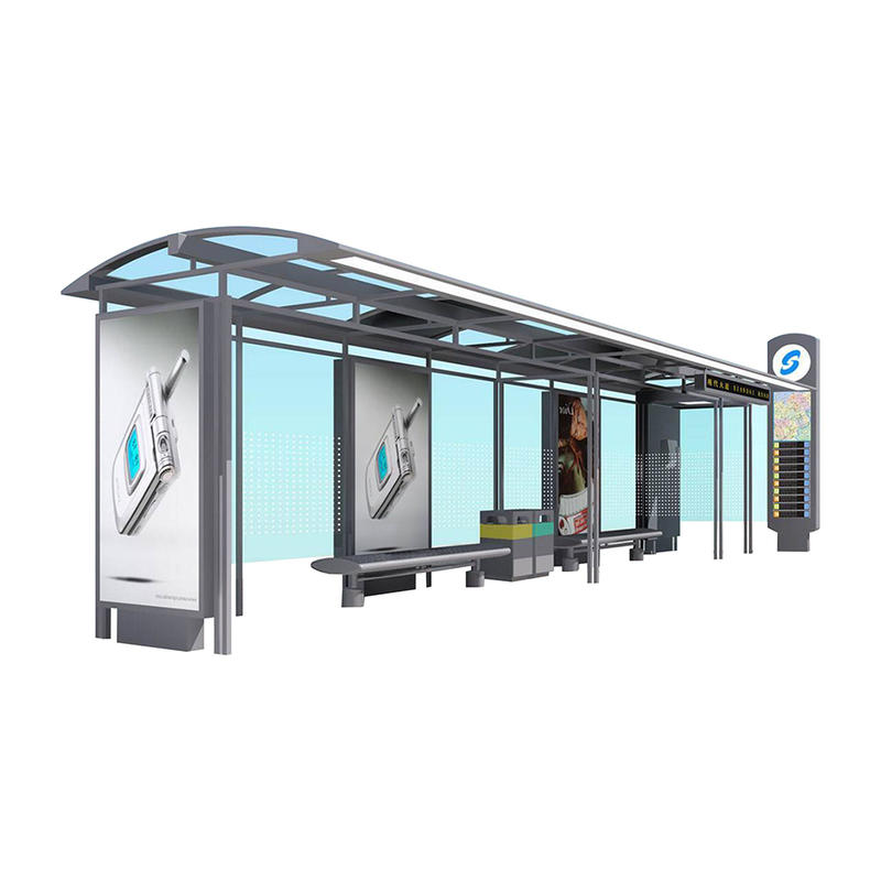 Double siede shelter steel bus shelter stop