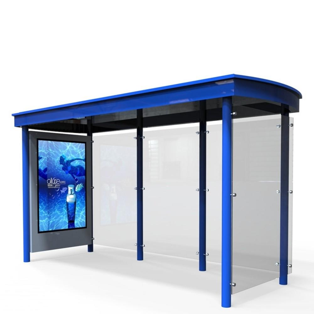 Outdoor fashion advertising bus station bus shelter with light box