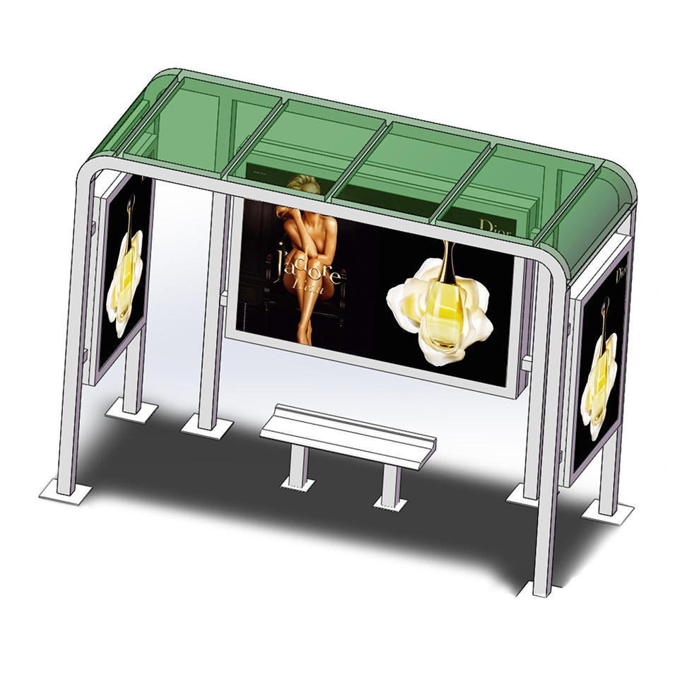 New concept metal bus stop shelter design for sale
