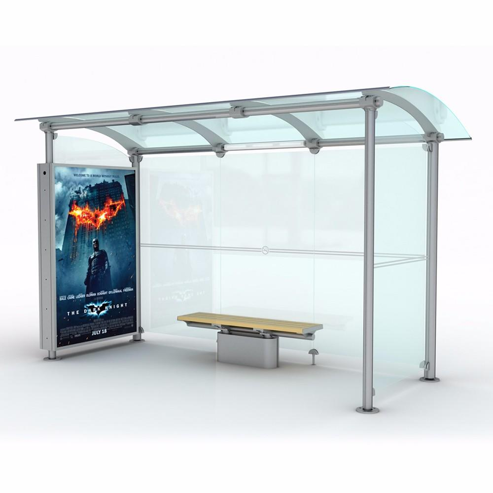 Outdoor advertising bus station customized bus shelter manufacturers