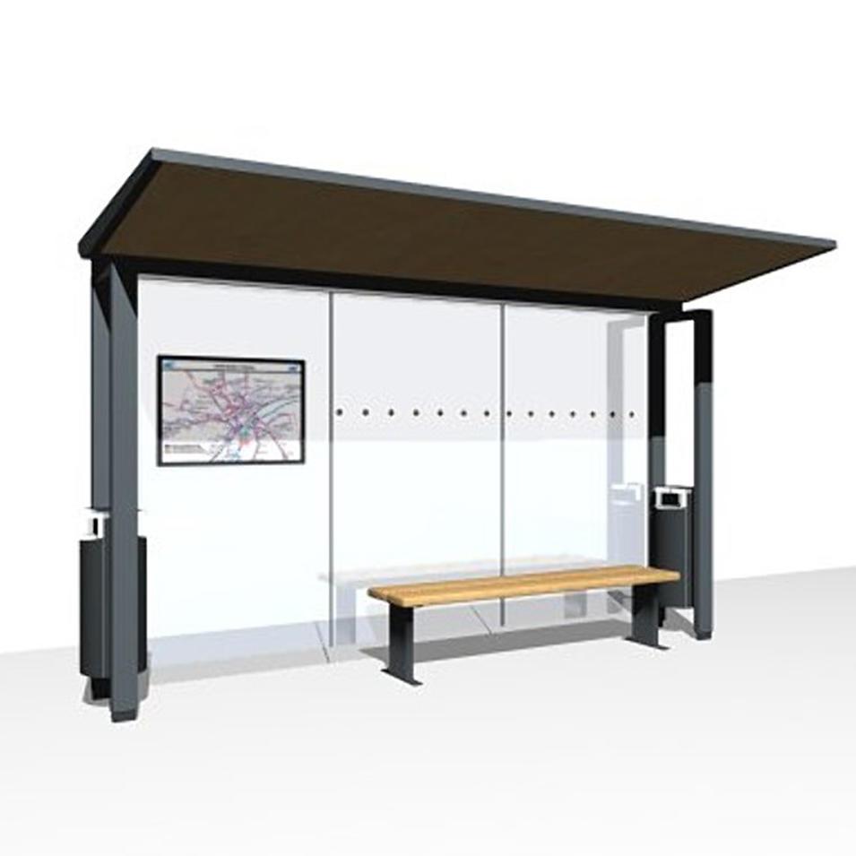 Modern metal bus stop shelters design
