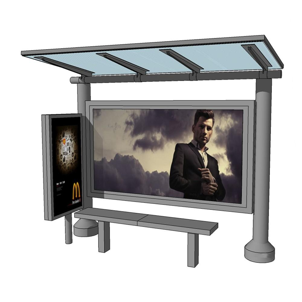 Professional advertising bus shelter bus stop manufacturer