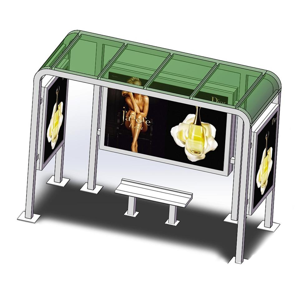 Hot Sale New Concept Metal Bus Stop Shelter Design