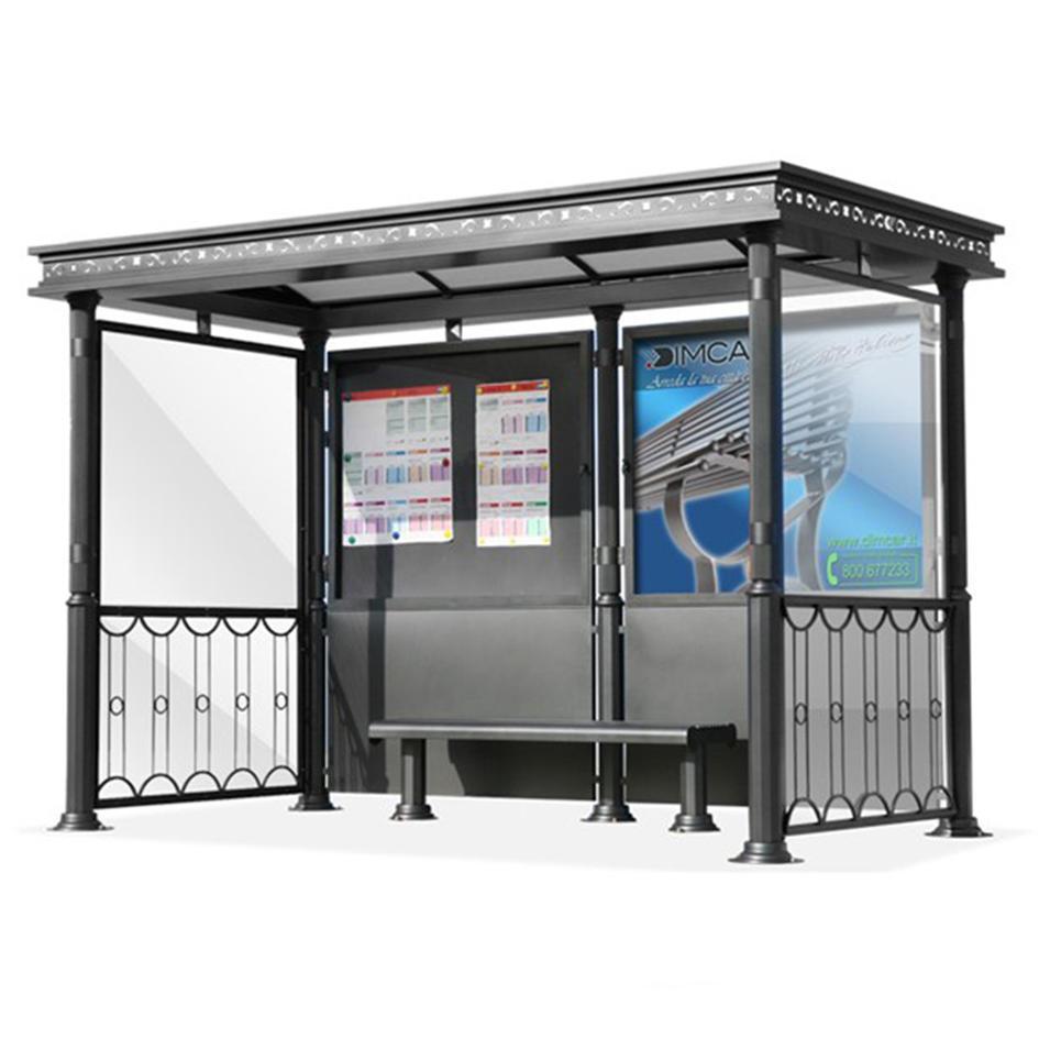 2020 street furniture customized metal bus shelter