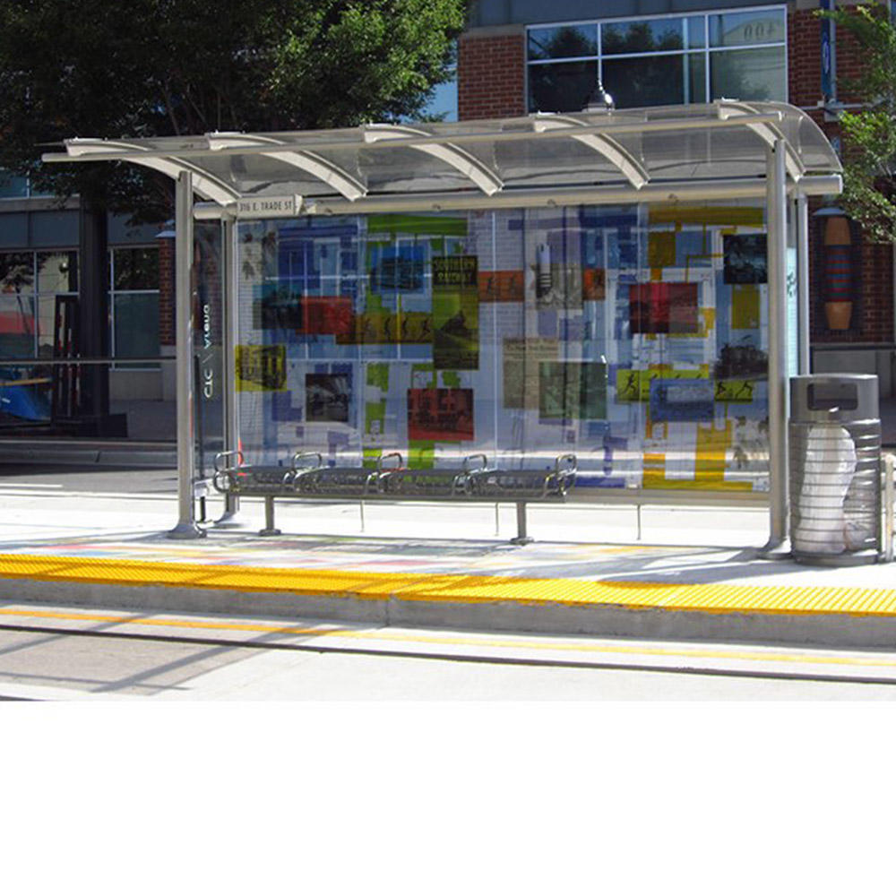 City advertising no Inflatable and metal material bus stop dimensions