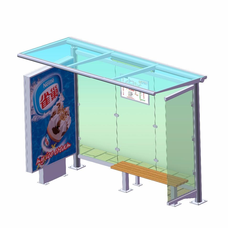 Outdoor metal bus stop shelter buying price