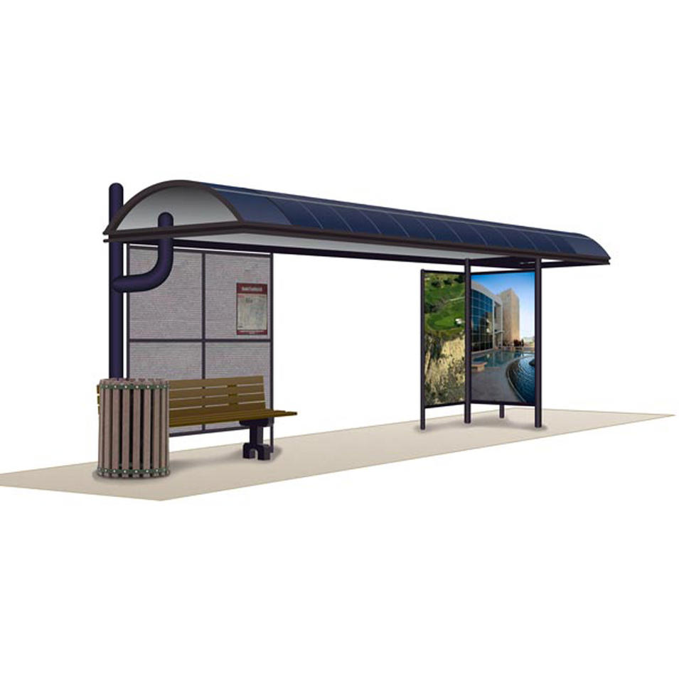 Outdoor Furniture Bus Stop Shelter Design Bus Stop With Trash Bin