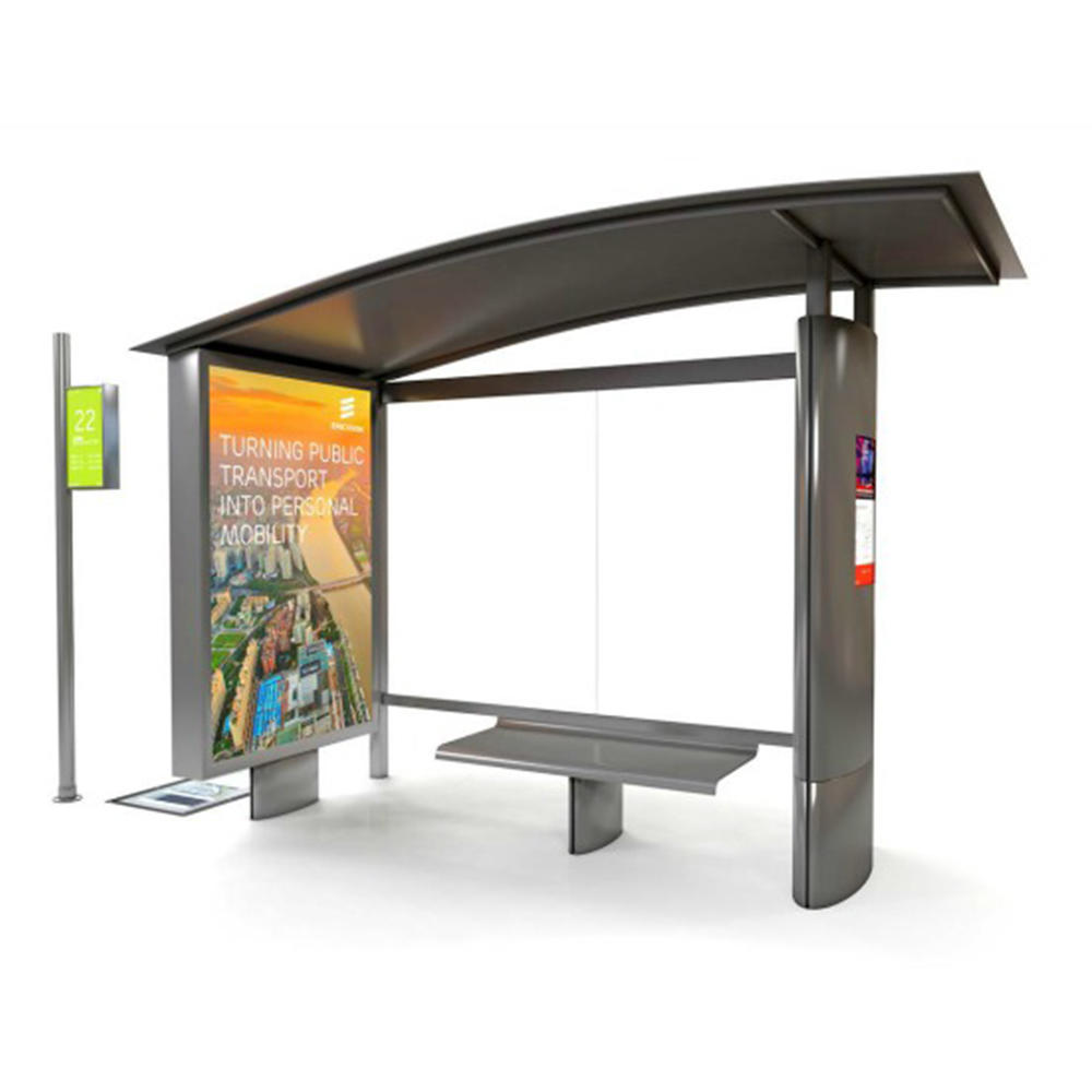 Street sealed bus station with air condition dustbin advertising light box