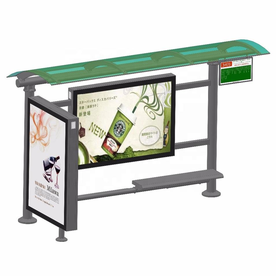 New design bus station outdoor bus shelter manufacturers customized bus stop