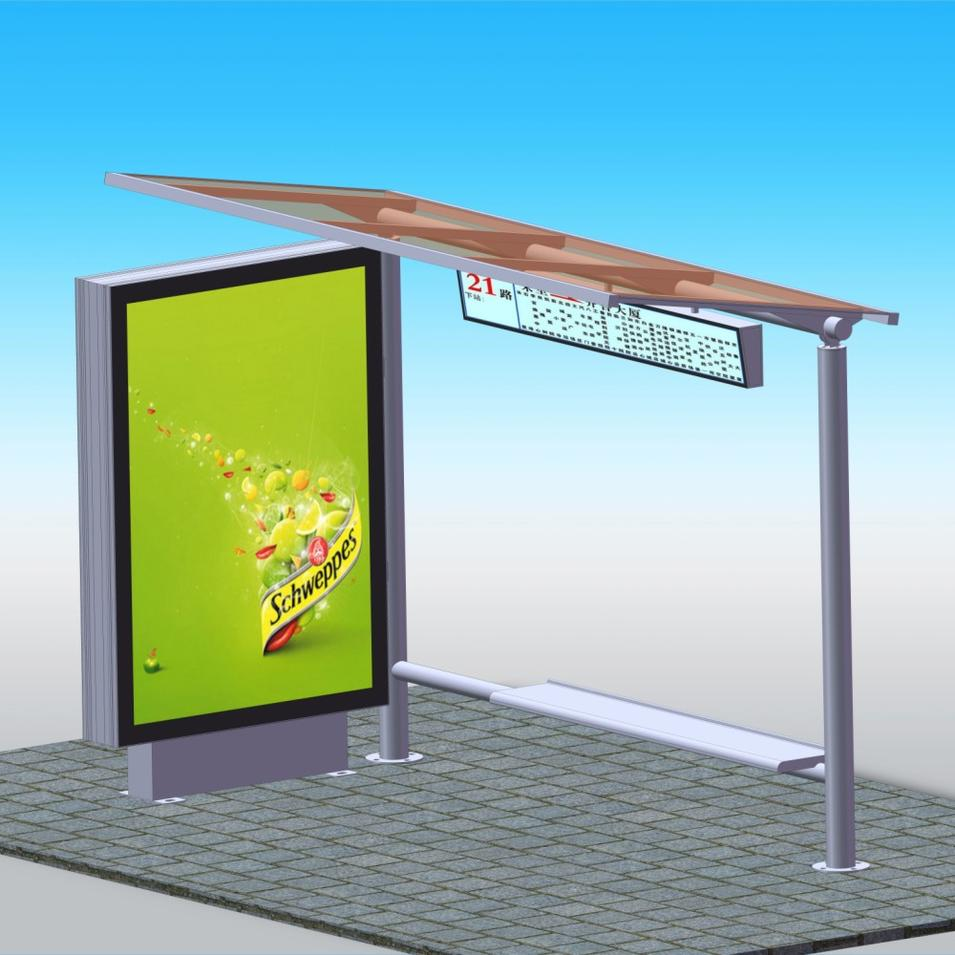 Advertising bus stops shelter station light box