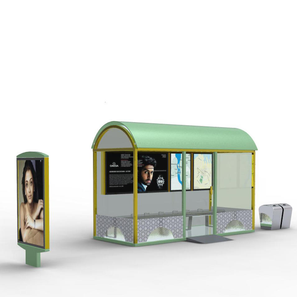 Modern high quality used hot sale bus stop shelter