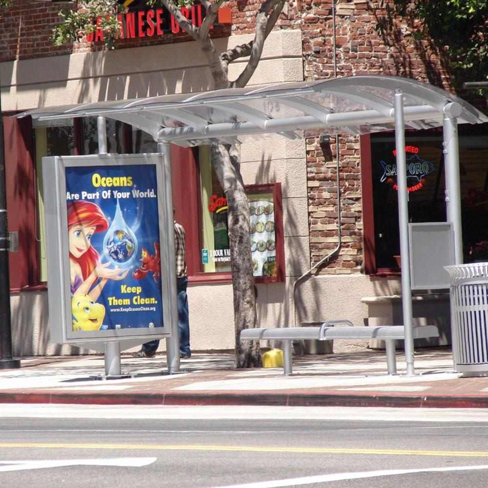 New design customized bus stop outdoor bus shelter manufacturers