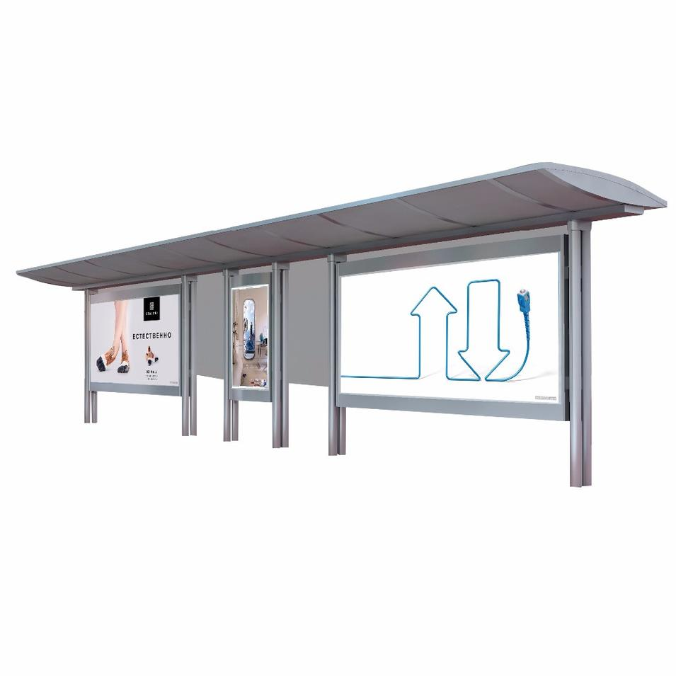 Stainless Steel Bus Shelter Outdoor Bus Stop Design