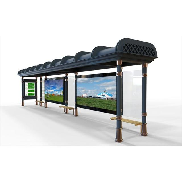 Customized New Design Bus Shelter Manufacturer Bus Stop for Sale