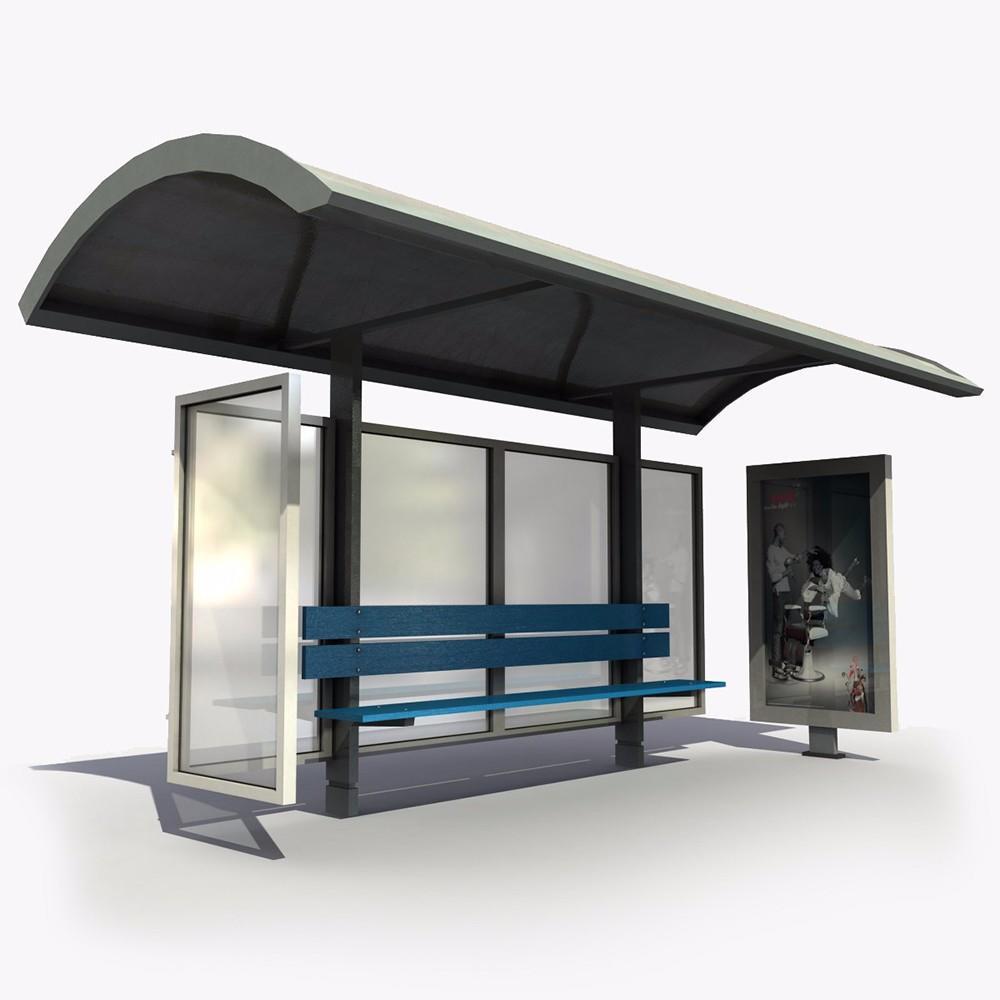 Modern Metal Bus Stop Shelter Price