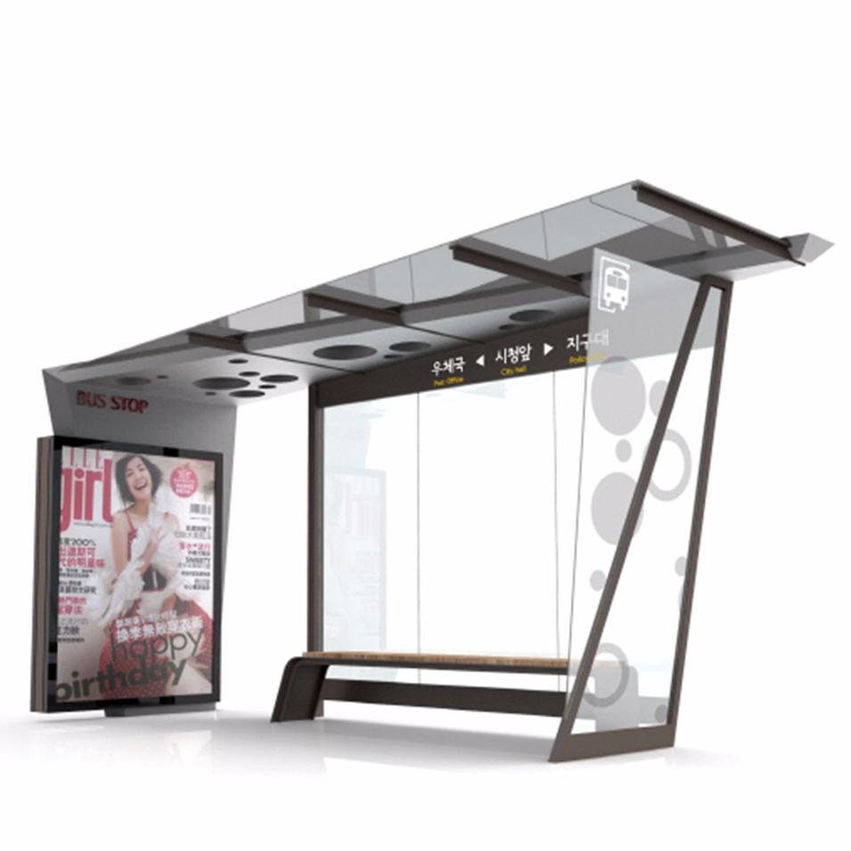 Bus Stop Shelter Frame with Chair with Announce