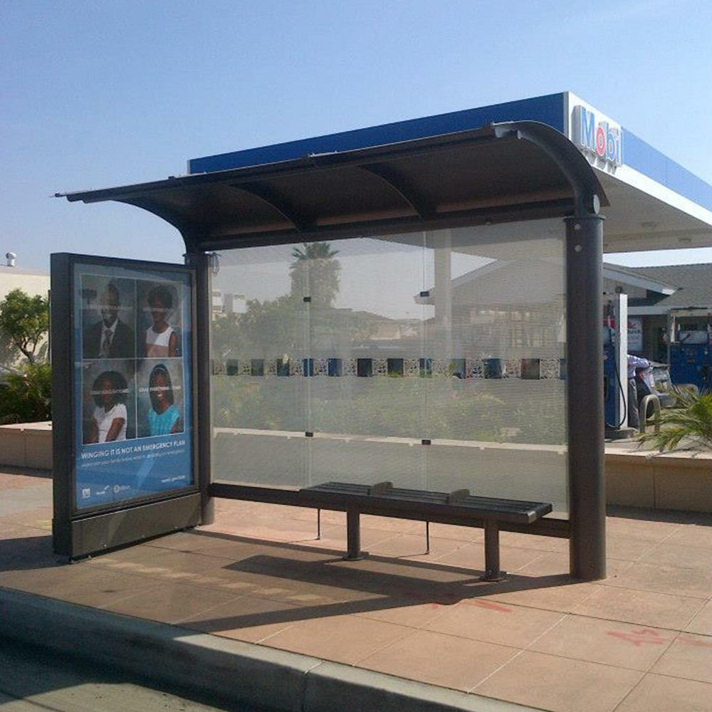 2020 Customized outdoor advertising bus stop bus shelter