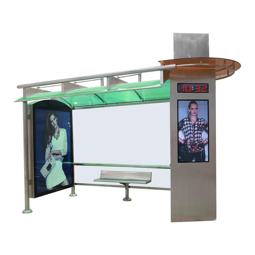 Customized Bus Shelter High Quality Stainless Steel Bus Stop