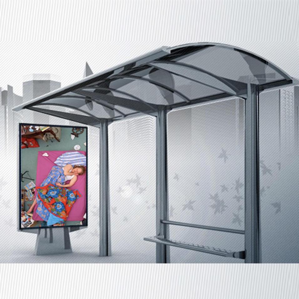Outdoor Advertising Bus Shelter Modern Bus Stop Shelter Design