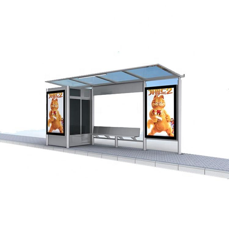 Modern Outdoor Street Waterproof Bus Stop Shelter Manufacturers