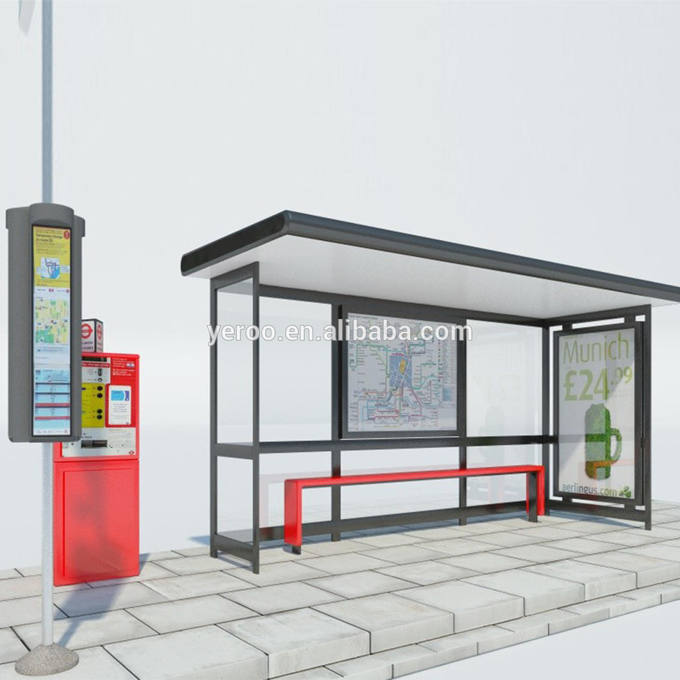 Outdoor furniture metal bus station shelter manufacturer from China