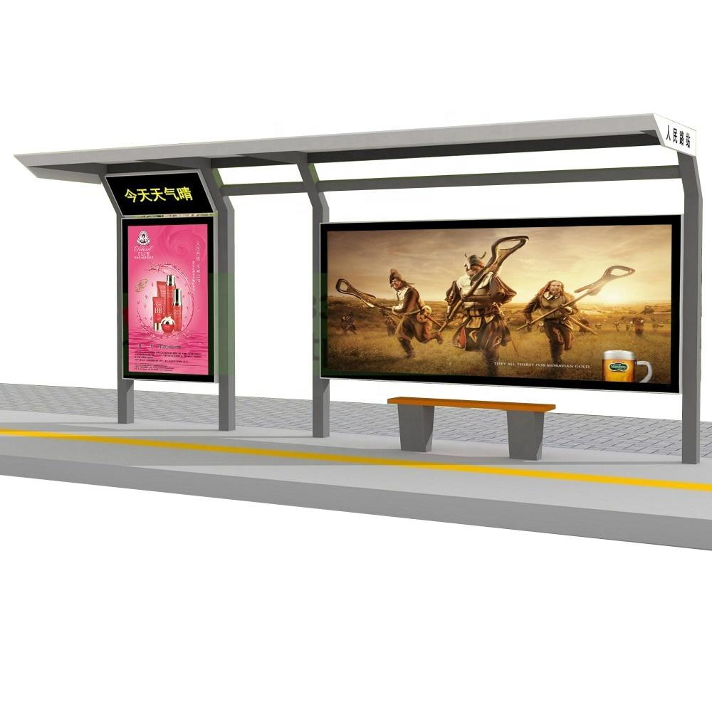 City Public Modern Stainless Steel Bus Stop Shelter Design