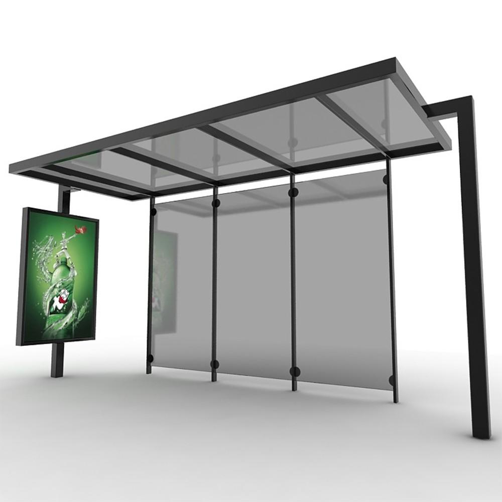 Stainless steel outdoor advertising bus shelter bus stationfor sale