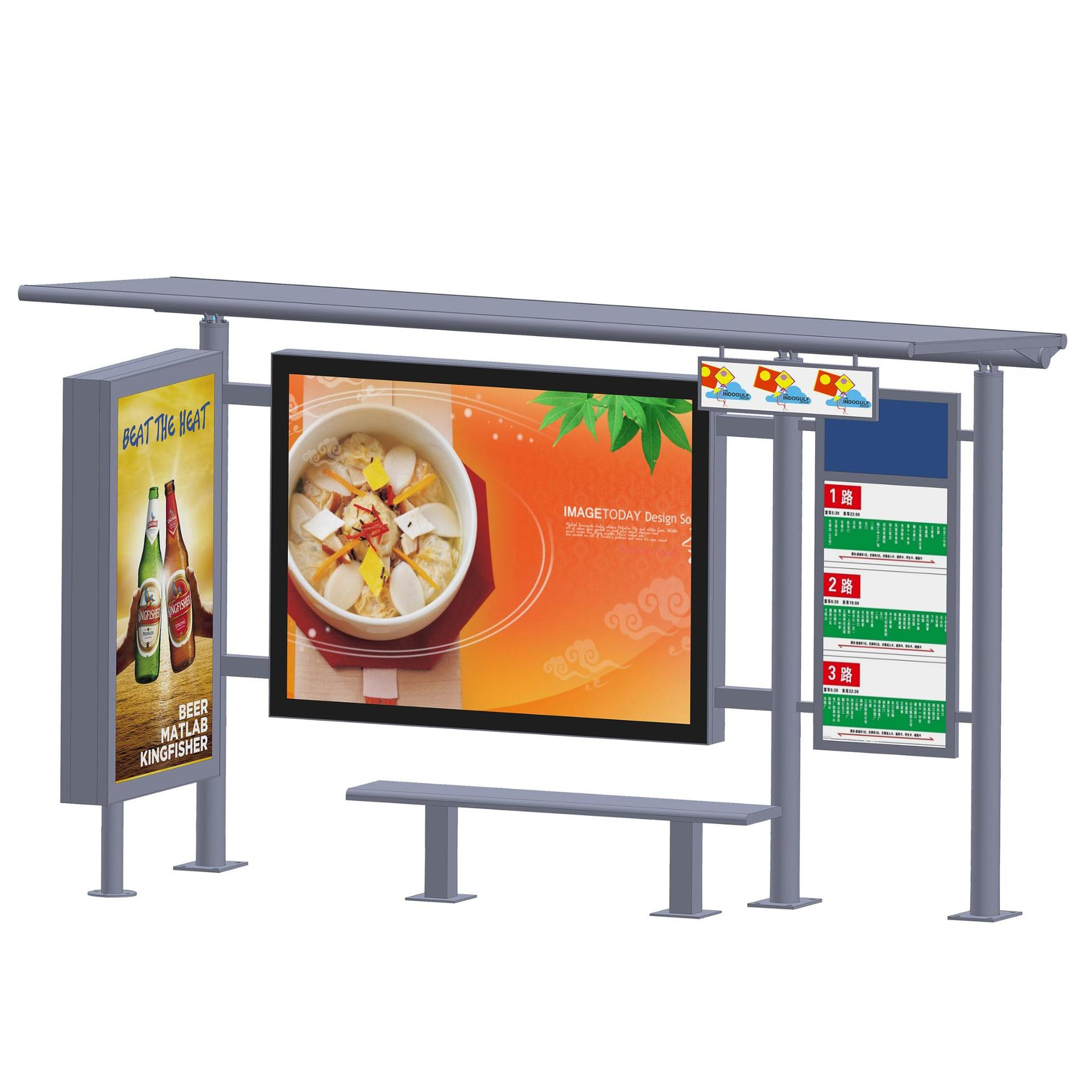High Quality Advertising Bus Station Shelters For Sale