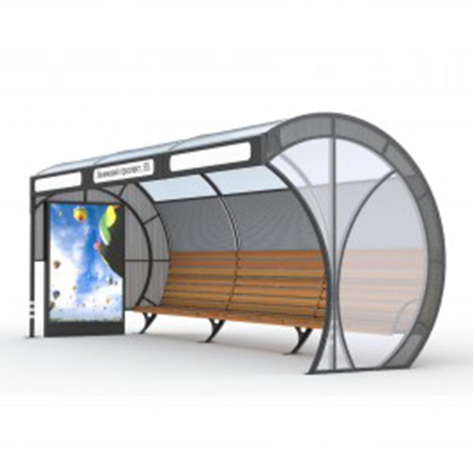 Galvanized sheet stainless steel modern design bus stop shelter