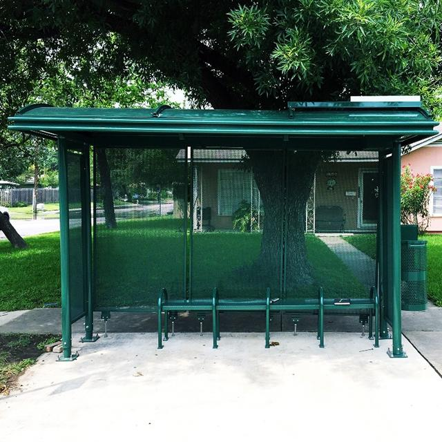 Stainless Steel Metal Bus Stop Shelter Design