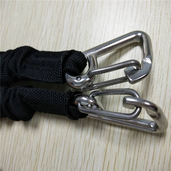hot sale boat dock rope bungee cord snubber nylon webbing cover