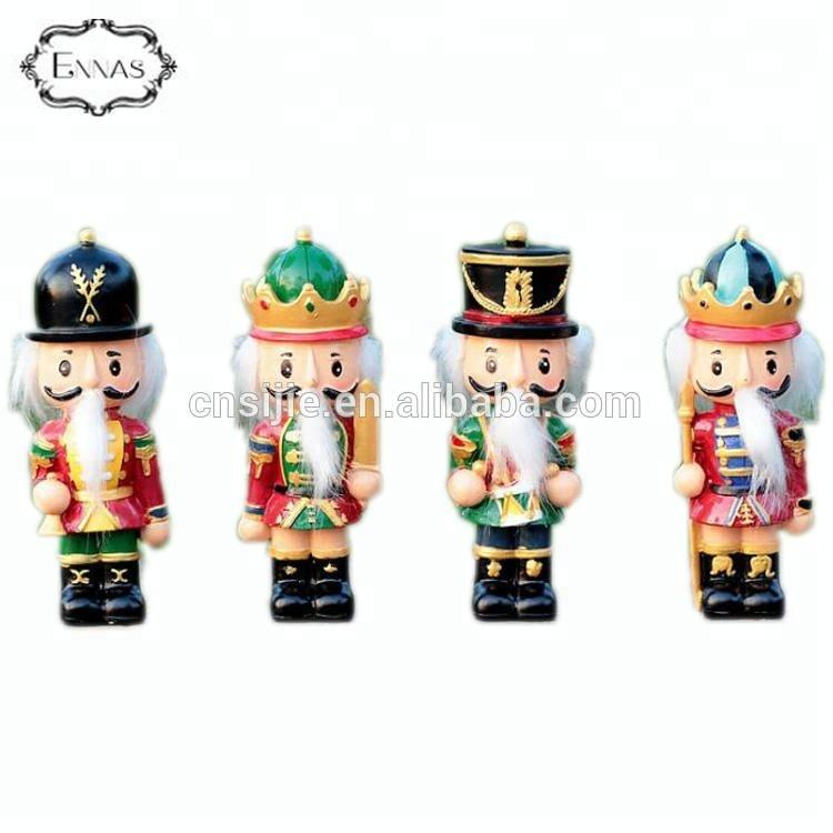 Decorative Christmas Figurines Resin Nutcracker soldier