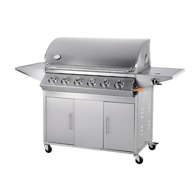 SUS201 Stainless Steel Burner, 6burner gas grill barbecue chicken HSQ-A116S