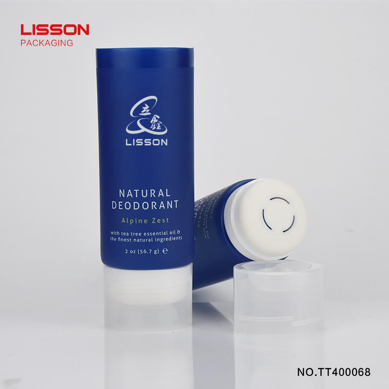 D40 customized empty 75ml squeeze plastic deodorant tubes packaging