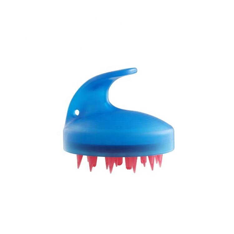 Hair Scalp Massage Assorted Colors Soft Silicone Bristle Hair Shampoo Brush