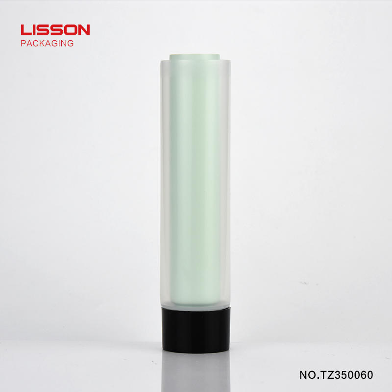 customized colour unique twins chamber double screw cap hand cream tube from Lisson